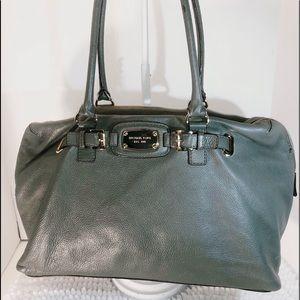 MK ~ Michael Kors ~Gray Pebble Leather~XL Satchel